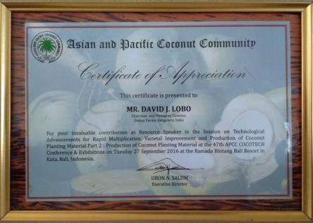 ASIAN & PACIFIC COCONUT COMMUNITY BALI 2016