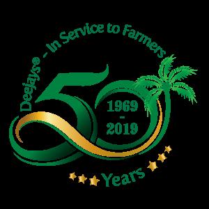 Deejay Farms 50th Anniversary Logo